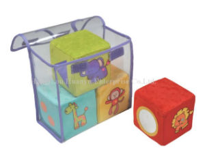 Factory Supply Stuffed Plush Blocks Rattle Toy pictures & photos