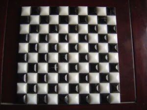 White and Black Marble Stone Mosaic