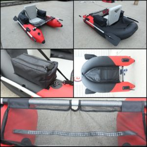 One Person Red Boat Convenient Fishing Inflatable PVC Boat pictures & photos