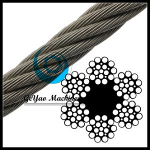 Ungalvanized 6*21 Fiber Core Wire Rope Drilling Line pictures & photos