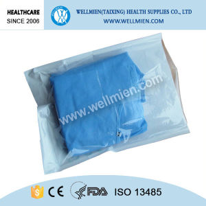 Hospital Nonwoven Medical Clothing Disposable Sterile Surgical Gown pictures & photos