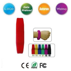 Promotional Gift Wrist USB with Custom Logo pictures & photos