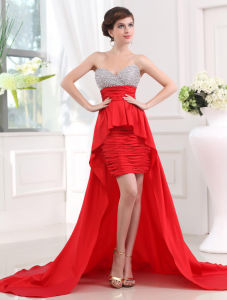 Drop Waist Lace Bodice Mermaid Fashion Evening Gown (ED10033)