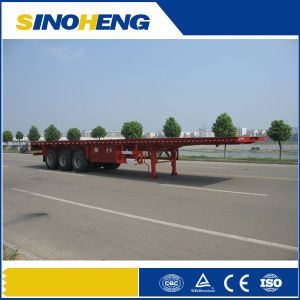 China Factory 3 Axles 40ft Platform Container Semi Trailer pictures & photos