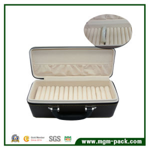 Hight Quality Leather Jewelry Storage Box with Purtable pictures & photos