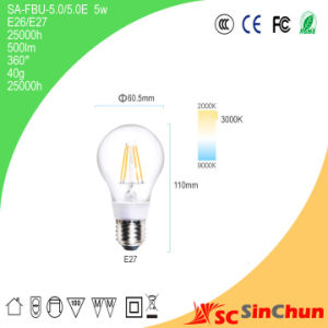 2014 Newest 5W 360 Degree Clear Lumilife LED Filament Bulb