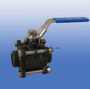 Carbon Steel Wcb 3PC Screw Ball Valve pictures & photos