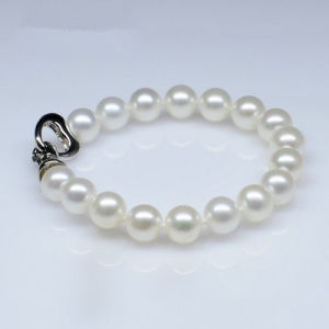 Classic Type Natural Freshwater Round Pearl Bracelet (E150029) pictures & photos