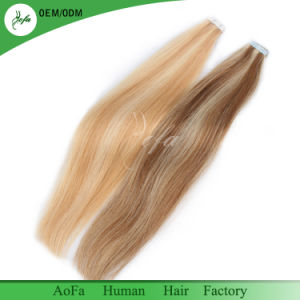 100% Human Hair Brazilian Remy Hair Straight Tape Hair Extension pictures & photos