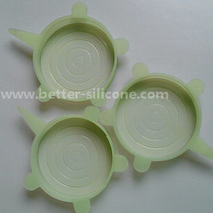 Food Standard Spill Stopper Silicone Food Lids pictures & photos