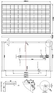 36V 270W High Effeciency Monocrystalline Solar Panel PV Module pictures & photos