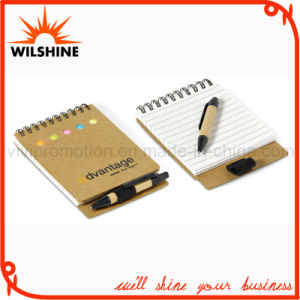Recycled Paper Notepad with Pen for Promotion (NP111) pictures & photos