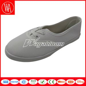 White Flat Comfort Canvas Women Casual Shoes