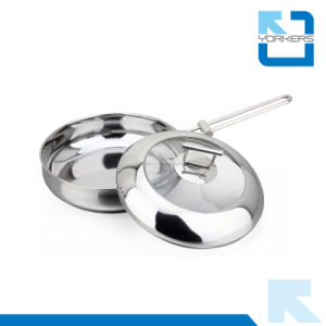 High Quality 304 Stainless Steel Double Bottom Frying Pan pictures & photos