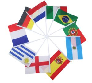 Custom Printing National Hand Held Flags pictures & photos