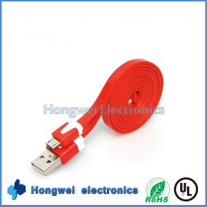 1 M Colorful Flat Ribbon Noodle USB 2.0 to Micro USB Cable pictures & photos