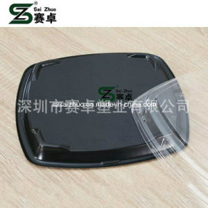 Square Floral Printed Top Grade Disposable Plastic Sushi Tray (S6127) pictures & photos