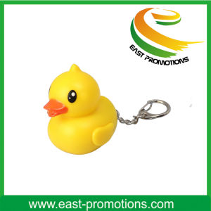 Soft PVC Promotional LED Keychain with Ball Chain pictures & photos