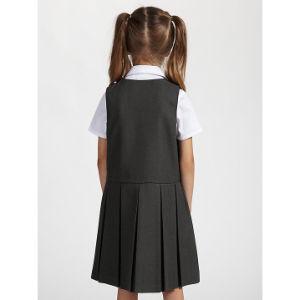 Custom Classic Plain Striped Grid School Uniform Dress for Grils pictures & photos