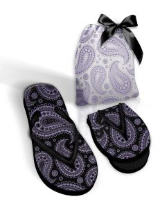 Foldable Pocket Flip Flops with Fabric Black or White Bag pictures & photos
