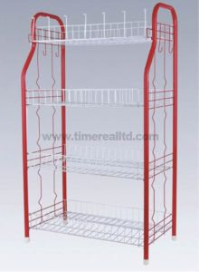 4 Tiers Metal Wire Kitchen Storage Cartsr-C002 pictures & photos
