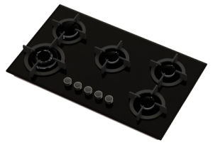 5 Burner Tempered Glass Gas Stove pictures & photos