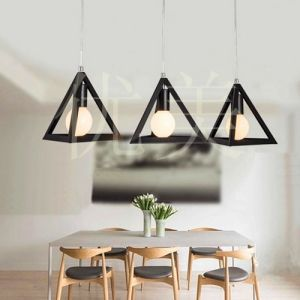 Northern Triangle Droplight Industrial Wind Restoring Ancient Ways Is Sitting Room Bedroom Lamp, Wrought Iron Small Droplight, Restaurant pictures & photos
