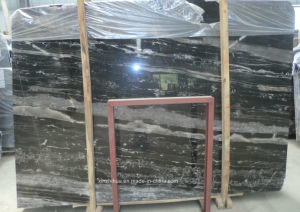 Silver Dragon Marble Tiles Black Marble Slabs for Flooring/Wall Tiles/Countertops pictures & photos