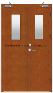 Wooden Fire Door with Fire Glass Good Price pictures & photos