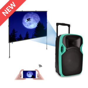 Best Selling Speaker with Radio Super Bass LED Projection Speaker pictures & photos