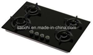 Sabaf Four Burner Tempered Glass Gas Hob -Gna477 pictures & photos