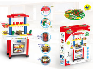 Kids Pretend Play Toy Electric Toy Kitchen Cooking Table (H1055003) pictures & photos