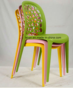Colorful Plastic Stacking Side Garden Chair (LL-0037) pictures & photos