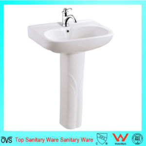 Good Price Sanitary Ware Hand Wash Pedestal Basin pictures & photos