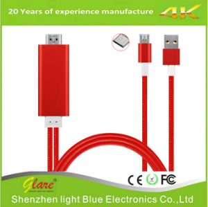 Wholesale Mhl to HDMI to USB Cable Adapter for Phone pictures & photos