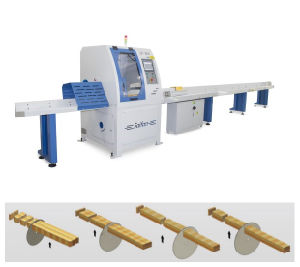 High Efficiency Wood Cross Saws Automatic Cutting off Machine pictures & photos