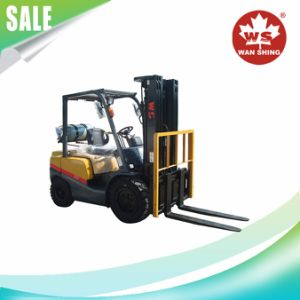 2-4t Gasoline-LPG Duel Fuel Forklift Truck with Nissan K21 Engine pictures & photos