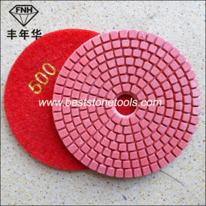 Diamond Flexible Wet Polishing Pad with Bright Red Colour pictures & photos