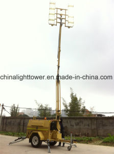 6X480W SAA Certified Four Folded Hydraulic Mast Mobile Lighting Tower pictures & photos