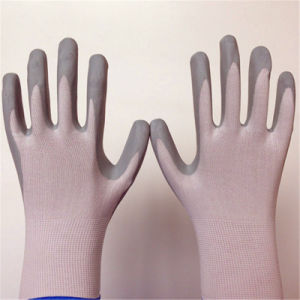 Nylon Glove with Thick Foam Nitrile Coating pictures & photos