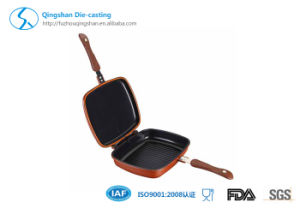 28cm Casting Aluminum Double Grill Pan pictures & photos