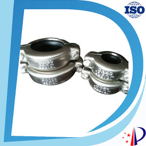 304 and 316 Stainless Steel Clamp Pipe Connector Grooved Couplings pictures & photos