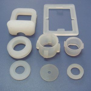 FDA Transparent Clear Flat Transparent Round Rubber Silicone Gasket pictures & photos