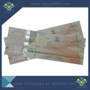 Silver Hot Stamping Hologram Thread Security Ticket pictures & photos