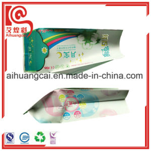 Gusset Plastic Packaging Bag with Window for Tissue pictures & photos