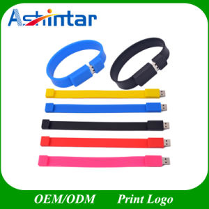 128g Silicone USB Memory Stick Bracelet Wristband USB Flash Drive pictures & photos