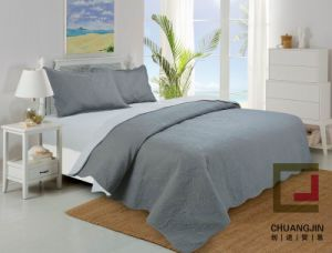 100%Polyester Ultrasonic Quilt (BEDDING SET) Bicolors