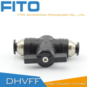 Hvff Plastic Pneumatic Fitting Hand Valve Desing by Fito pictures & photos