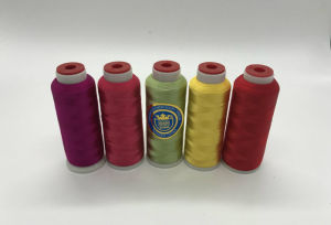Shanfa 100% Rayon Embroidery Thread pictures & photos