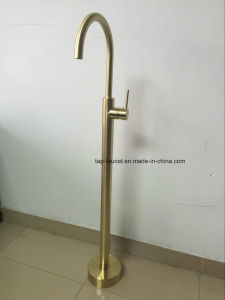 7 Years Watermark Guarantee Brushed Gold Luxury Pin Lever Faucet Series pictures & photos
